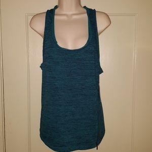 Threads 4 Thought Blue/Green Tank Top Shirt Sz M